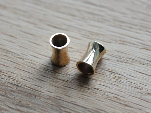 6 mm tunnels in 18k Gold Plated Brass