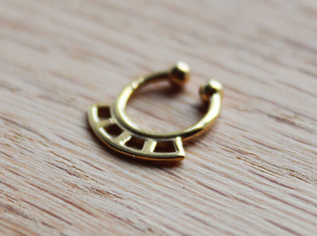 Septum Ring Test in Polished Brass