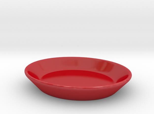 DDC -EspressoSet Untertasse in Gloss Red Porcelain