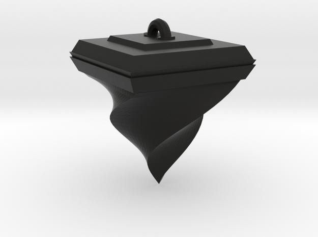 Twisted Pyramid in Black Natural Versatile Plastic