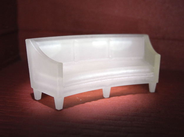 1:48 Curved Sofa in Smooth Fine Detail Plastic