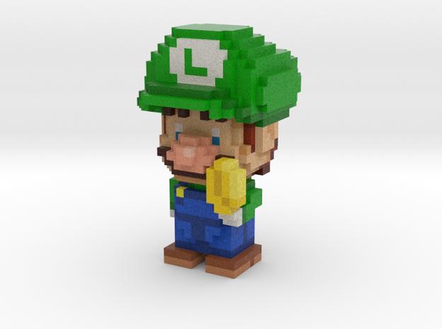 Super Plumber Green Bro Voxel Minifig