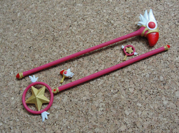 Card Captor Sakura Set: 1/4 MSD Size in White Natural Versatile Plastic