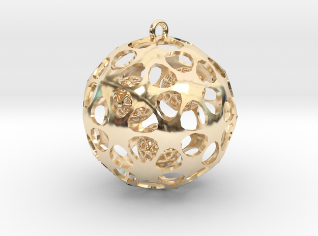 Hadron Ball - 5cm in 14K Yellow Gold