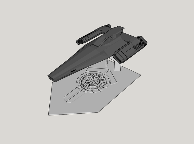 Battlestar Galactica Display v1 (Models to 1/64) in White Processed Versatile Plastic