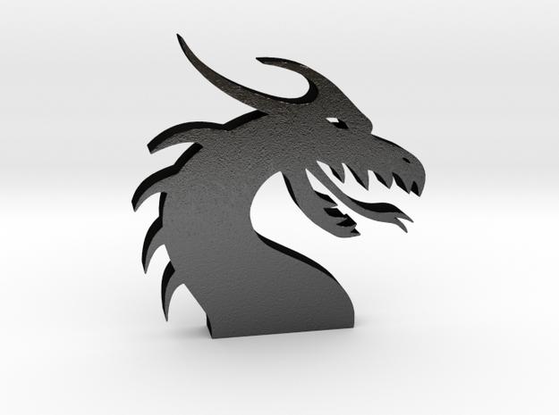 Dragon Head for Henry Morgan in Matte Black Steel