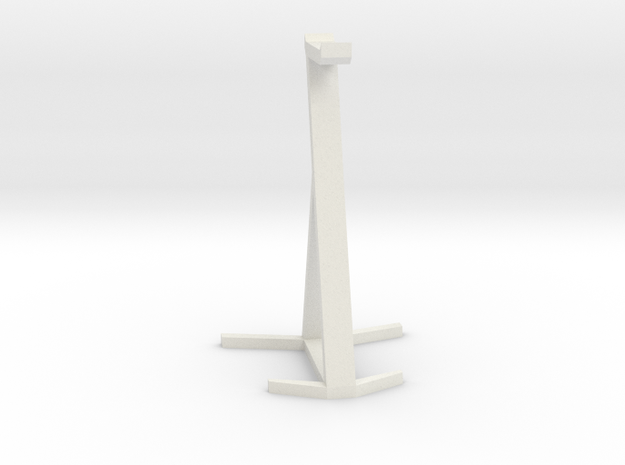 Headset Stand in White Natural Versatile Plastic