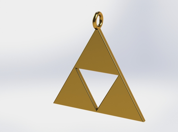 Triforce Pendant in 18k Gold Plated Brass