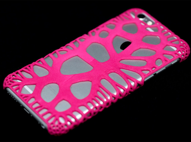 iPhone6 Case Paths (Extreme Voronoi Edition) in Pink Strong & Flexible Polished