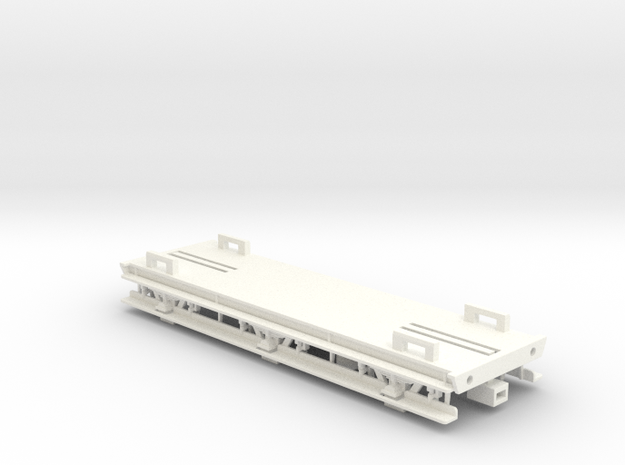 GWR 6 Wheeled Siphon Chassis (Part 1) in White Strong & Flexible Polished