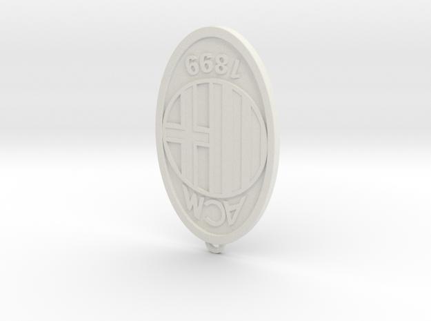 Ac Milan 01 in White Natural Versatile Plastic