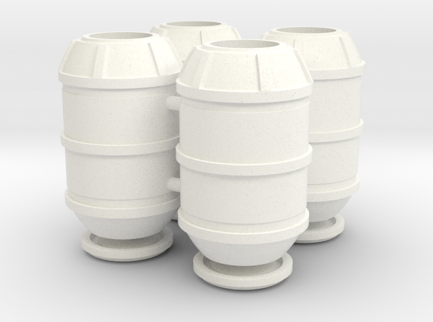 DeAgo Falcon Main Hold Floor Big Barrels With Lids in White Processed Versatile Plastic
