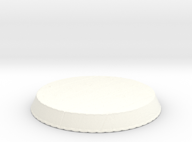 Wooden Circular Base in White Processed Versatile Plastic