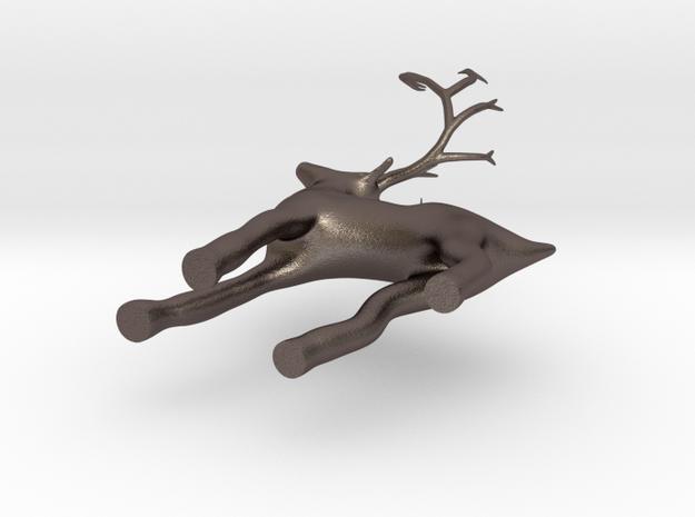 christmas deer ornament  in Stainless Steel