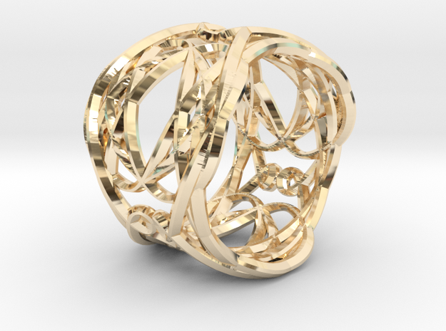 Ring Elegance - for royalty in 14K Yellow Gold