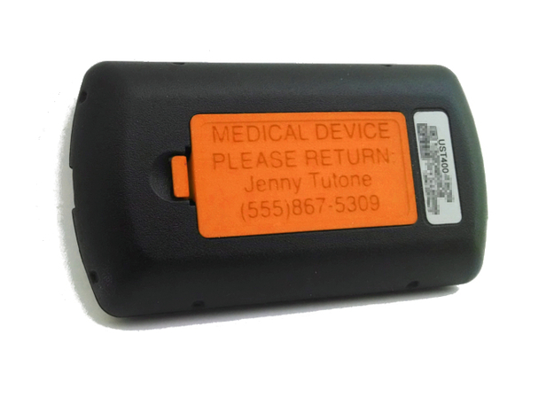 OmniPod PDM Personalized Battery Cover  3d printed Orange