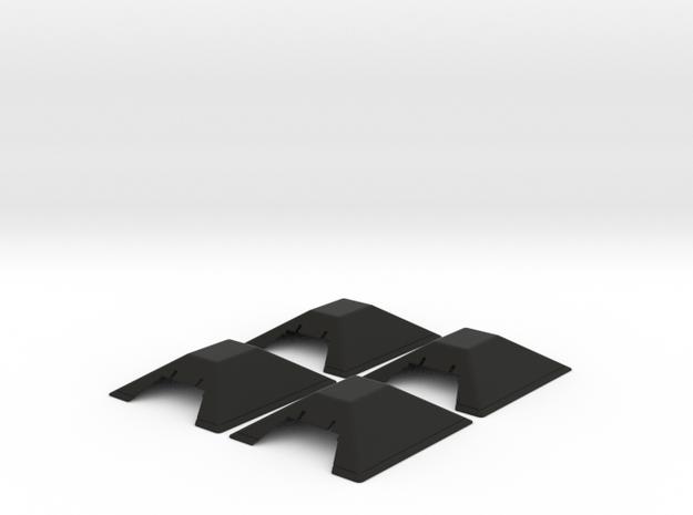 N SCALE PRR CINDER BUMPER 4 PK in Black Natural Versatile Plastic