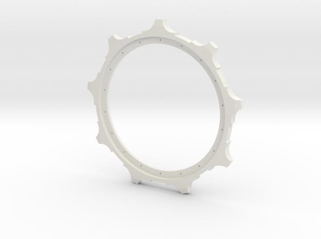 1/16 E-100 sprocket   in White Natural Versatile Plastic