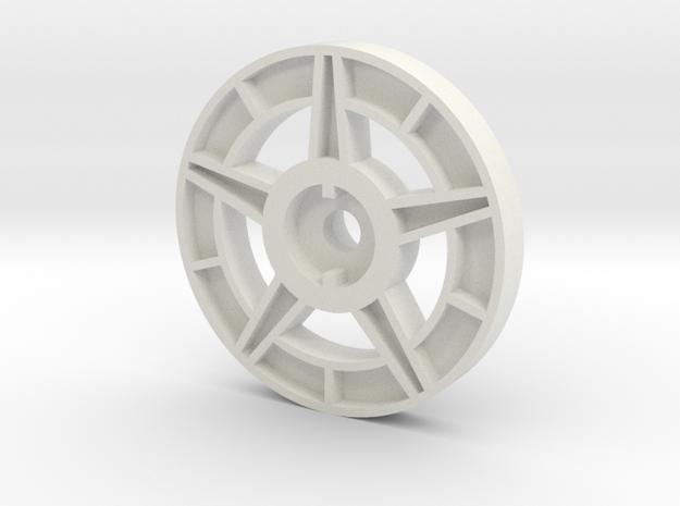 1/16 Idler Wheel E-100 Part 2 in White Natural Versatile Plastic
