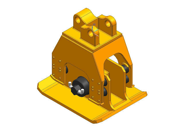 HO 1/87 vibratory compactor in Smooth Fine Detail Plastic