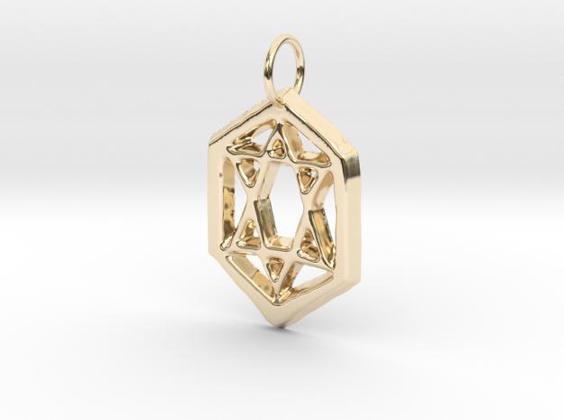 Jewish Star in 14K Yellow Gold