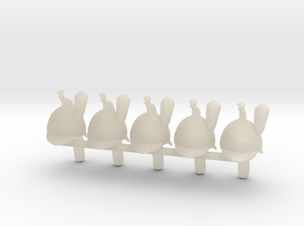 5 x French Cuirassier 3d printed