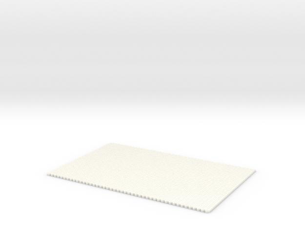 Straat Stenen Opp Klein Zonder Naadhelft  H0 in White Processed Versatile Plastic