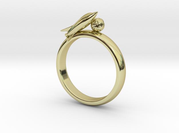 Moon Rocket Ring S 8 3d printed