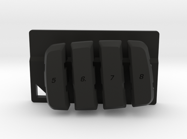 Nyth Vertical Buttons  in Black Natural Versatile Plastic