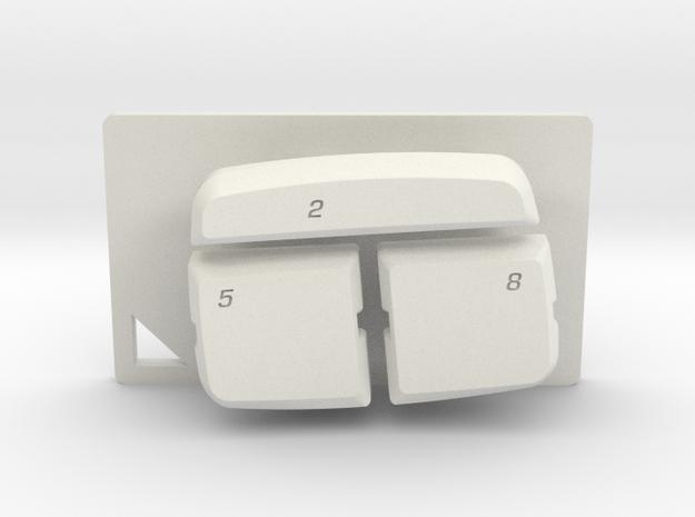 Nyth Quattro Bottom Buttons  in White Natural Versatile Plastic