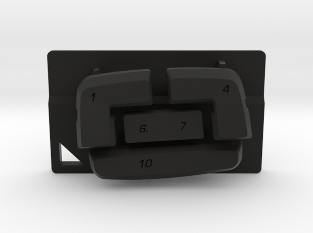 Nyth Edge Top Buttons in Black Natural Versatile Plastic