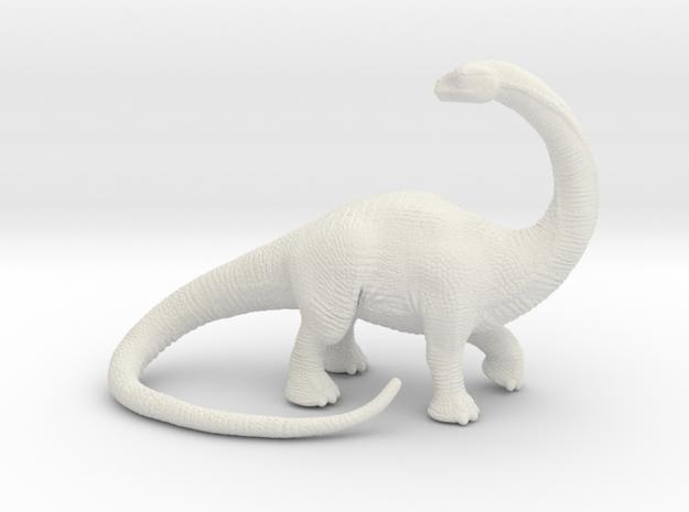 Brontosaurus in White Natural Versatile Plastic