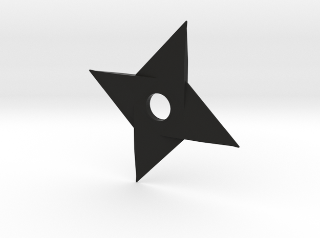 Shuriken Variation in Black Natural Versatile Plastic