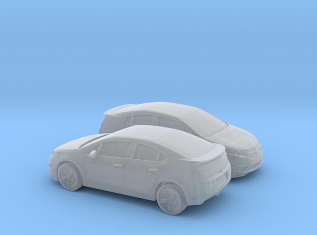 1/148 2X 2013 Chevrolet Volt in Smooth Fine Detail Plastic
