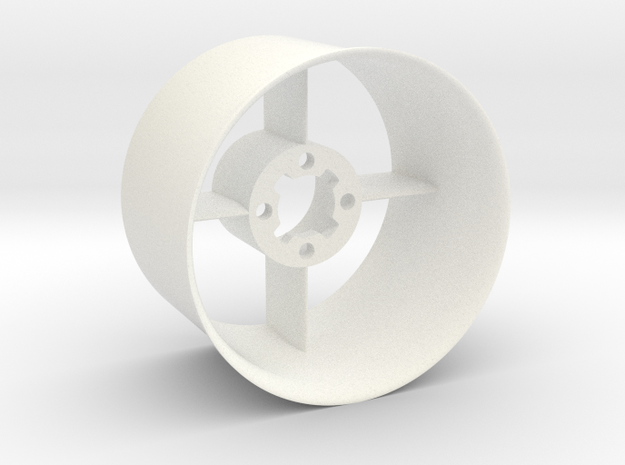 Ducted fan 50mm Stator with intake in White Processed Versatile Plastic