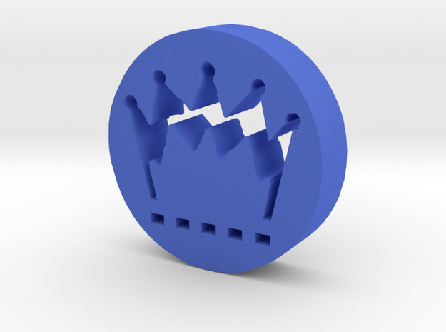Crown in Blue Processed Versatile Plastic