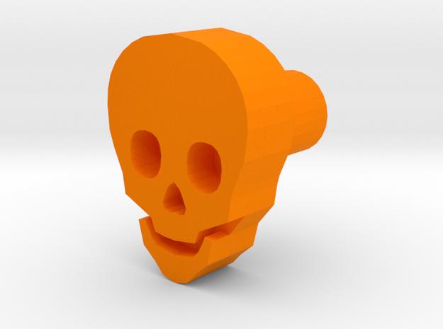 skull leather stamp design in Orange Processed Versatile Plastic