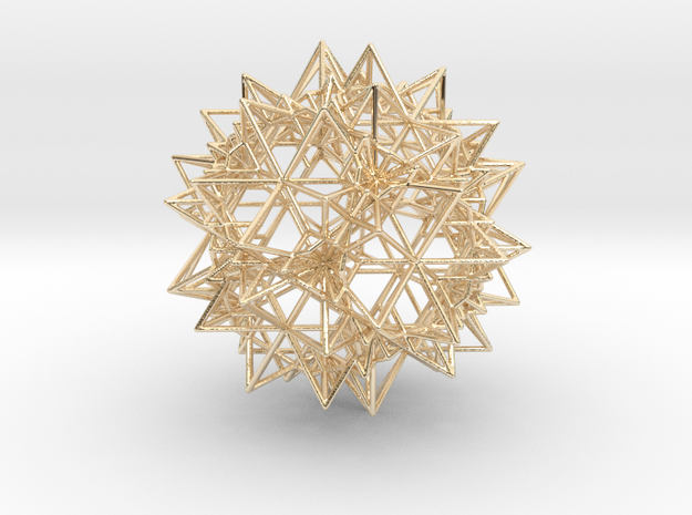 Stellation of a Rhombic Triacontahedron in 14k Gold Plated