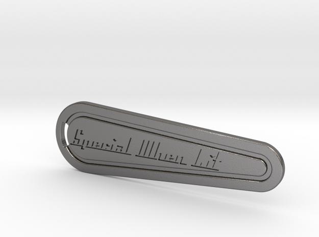 Flipper Bat Keyring - Special When Lit in Polished Nickel Steel