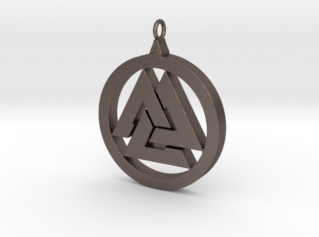 Part-Closed Tri-Pendant in Stainless Steel