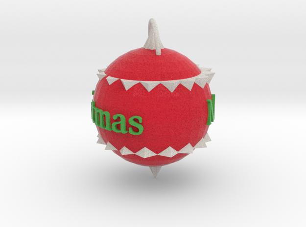 Christmas Ornament in Full Color Sandstone
