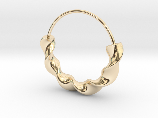 Orecchino 5 in 14k Gold Plated Brass