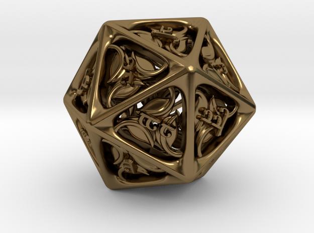 Tengwar Elvish D20 3d printed