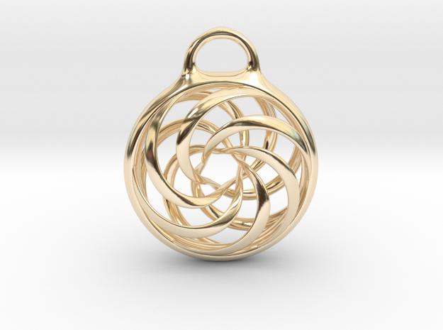 Vortex Pendant in 14K Gold