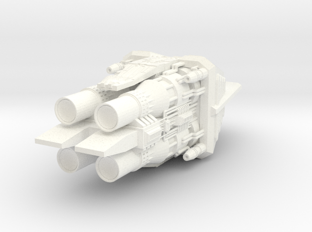 4222 Omega Engines in White Processed Versatile Plastic