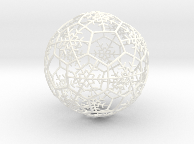 iFTBL Xmas Snow Ball / The One - Ornament 60mm ' in White Processed Versatile Plastic