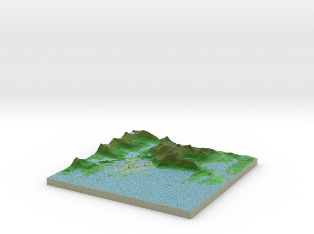 Terrafab generated model Fri Oct 23 2015 14:58:17  in Full Color Sandstone