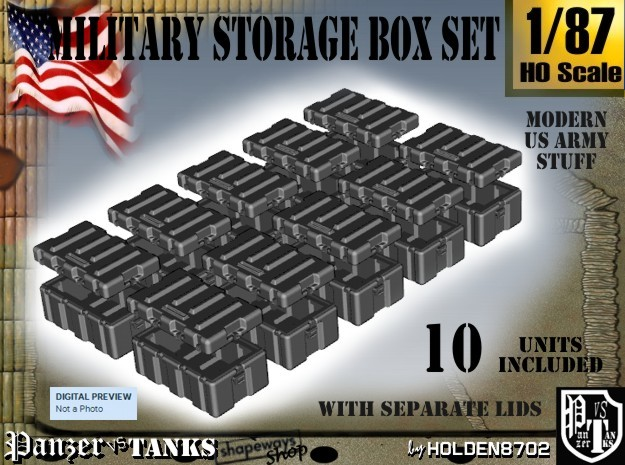 1-87 Military Storage Box Set in Frosted Ultra Detail