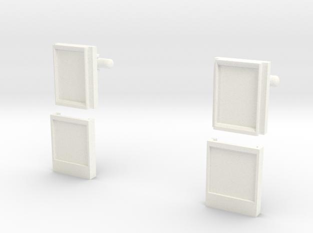 POLAROID MICROS SD CUFFLINKS in White Processed Versatile Plastic