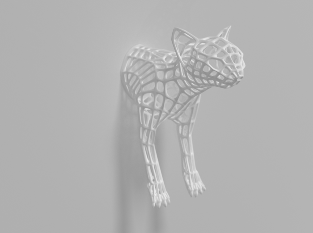 """Caliph The Cat"" Wire Sculpture front in White Strong & Flexible"